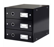 Archivační box zásuvkový Leitz Click-N-Store, 3 zásuvky, černý