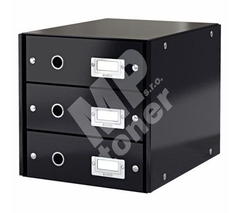 Archivační box zásuvkový Leitz Click-N-Store, 3 zásuvky, černý 1
