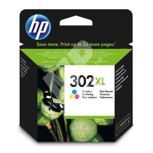 Cartridge HP F6U67AE, No.302XL, color, originál 1