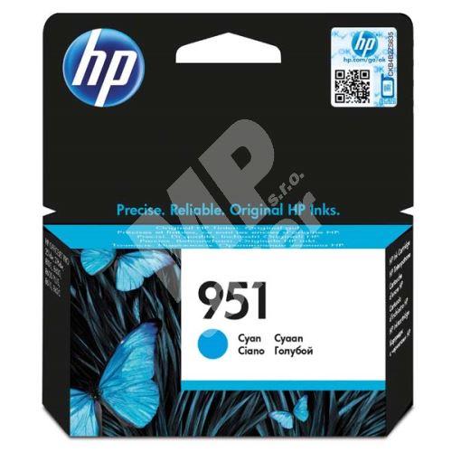 Cartridge HP CN050AE, cyan, No.951, originál 1