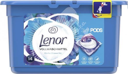 Lenor 3v1 Waterlily gelové kapsle na praní prádla 14 kusů 369,6 g 1