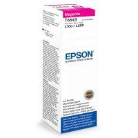 Inkoustová cartridge Epson C13T66434A, L100, L200, magenta, originál