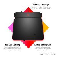 Podložka pod myš HP OMEN by HP Outpost nabíjecí Qi, herní, černá, 346x344 mm, 10.5 mm 9