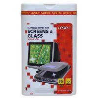 Čisticí trhací ubrousky na obrazovky, dóza, 50ks, L