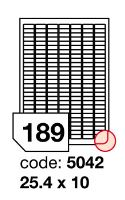 Samolepící etikety Rayfilm Office 25,4x10 mm 300 archů, inkjet, R0105.5042D