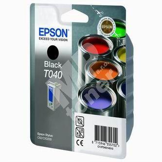 Inkoustová cartridge Epson C13T040140 černá, originál