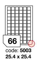 Samolepící etikety Rayfilm Office 25,4x25,4 mm 300 archů, inkjet, R0105.5003D