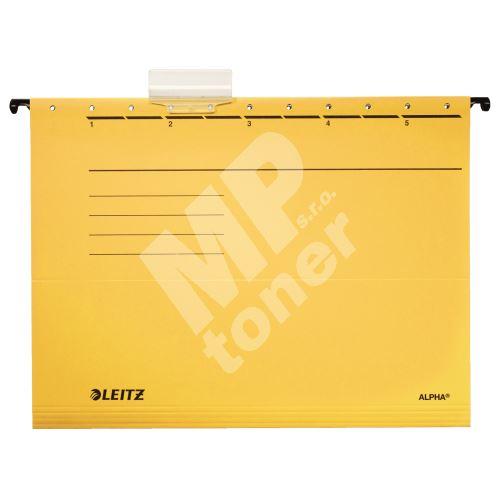 "Závěsné desky Leitz ALPHA typu ""V"", žluté 1"