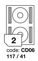 Samolepící etikety Rayfilm Office průměr 117/41 mm 300 archů R0103.CD06D