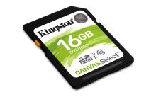 16GB Kingston SDHC Canvas Select CL10 UHS-I 80R