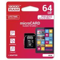 64GB Goodram Micro Secure Digital Card, micro SDXC, UHS-I, s adaptérem