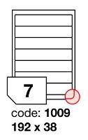 Samolepící etikety Rayfilm Office 192x38 mm 300 archů, inkjet, R0105.1009D