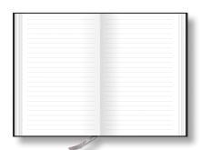 Notes linkovaný s kapsou A5 - nero - černá-zelená 2
