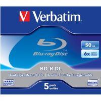50GB Verbatim BD-R DL, jewel, 43747, 6x, 5-pack
