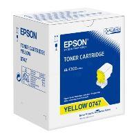 Toner Epson C13S050747, WorkForce AL-C300, yellow, originál