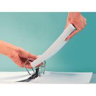 Pákový pořadač Leitz 180, A4, 52 mm, PP/karton, se spodním kováním, bílý 4