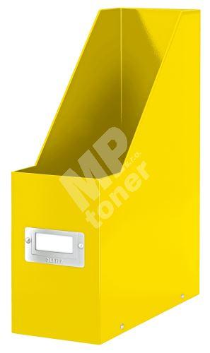 Stojan na časopisy Click & Store, žlutá, lesklý, 95 mm, PP/karton, LEITZ 1