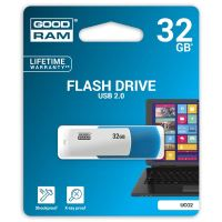32GB Goodram UCO2, USB flash disk 2.0, modro-bílá
