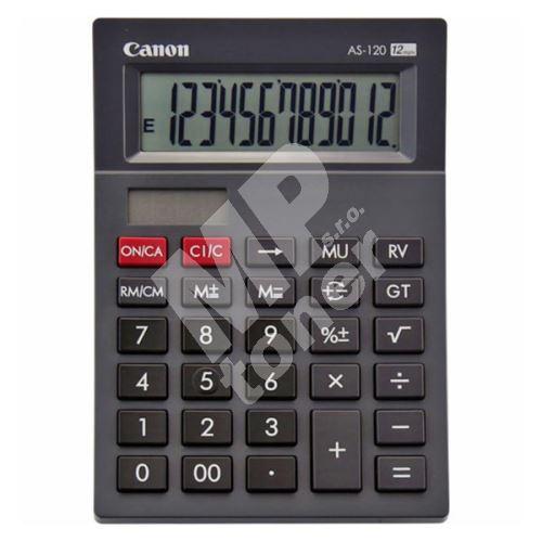 Kalkulačka Canon AS-120, černá, stolní, dvanáctimístná