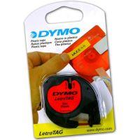 Páska Dymo LetraTag 12mm x 4m plastová červená, 59424, S0721580