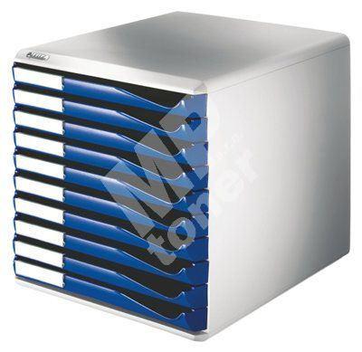 Zásuvkový box Leitz 10 zásuvek, modrý 1