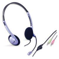 Genius HS-02B, sluchátka s mikrofonem, regulace hlasitosti