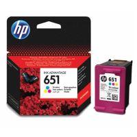 Inkoustová cartridge HP C2P11AE, DeskJet IA 5645, IA 5575, color, No.651, originál