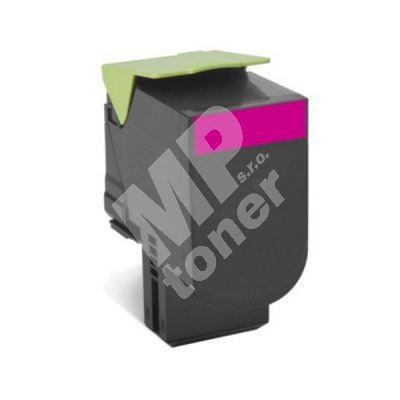 Toner Lexmark 80C2HME, magenta, originál 1