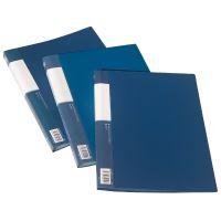 Kniha katalogová A4 40 kapes, neprůhledná, modrá