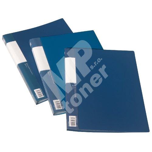 Kniha katalogová A4 40 kapes, neprůhledná, modrá 1