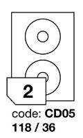 Samolepící etikety Rayfilm Office průměr 118/36 mm 100 archů R0103.CD05A