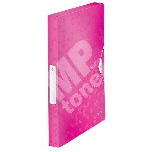Desky s gumičkou Wow Jumbo, růžová, 30 mm, PP, A4, LEITZ 1