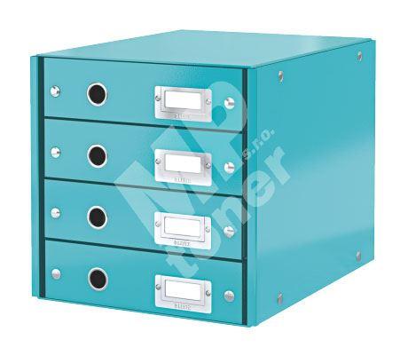 Zásuvkový archivační box Leitz Click-N-Store, 4 zásuvky, ledově modrý 1