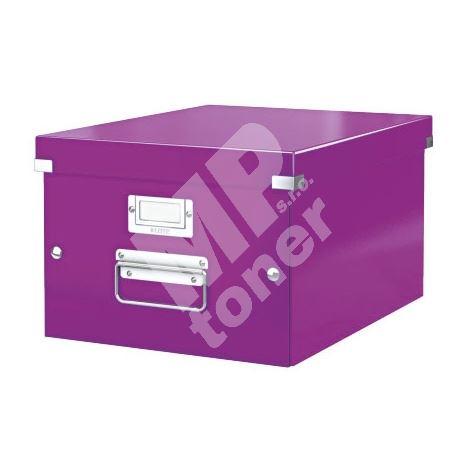 Archivační krabice Leitz Click-N-Store M (A4) wow, purpurová 1