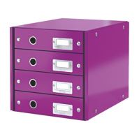 Zásuvkový archivační box Leitz Click-N-Store, 4 zásuvky, fialový