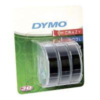 Páska Dymo 9mm x 3m černý podklad, 3D, 1 blistr/3 ks, S0847730