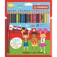 Barevné pastelky STABILO Color, 24 různých barev, šestihranné