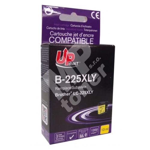 Cartridge Brother LC-225XLY, yellow, UPrint 1