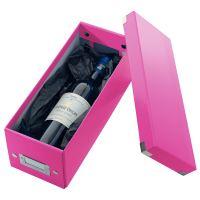 Archivační krabice na CD Leitz Click-N-Store WOW, růžová 2