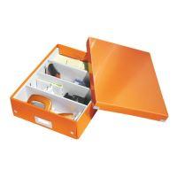 Archivační organizační box Leitz Click-N-Store M (A4), oranžový