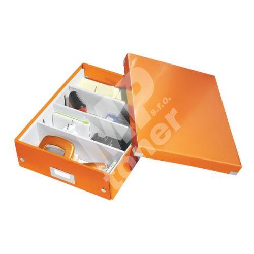 Archivační organizační box Leitz Click-N-Store M (A4), oranžový 1