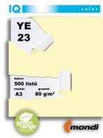 Barevný papír IQ YE 23 A3 80g světle žlutá 1bal/500ks 2
