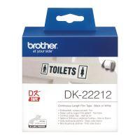 Filmová role Brother DK22212, 62mm x 15.24m, bílá, 1 ks, pro tiskárny štítků QL