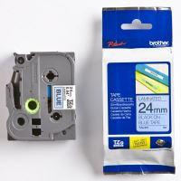Páska do štítkovače Brother TZE-551 24mm černý tisk/modrý podklad