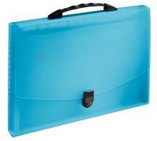 Aktovka s držadlem a 12 přihrádkami, Vivida modrá, A4, plast, Esselte 4