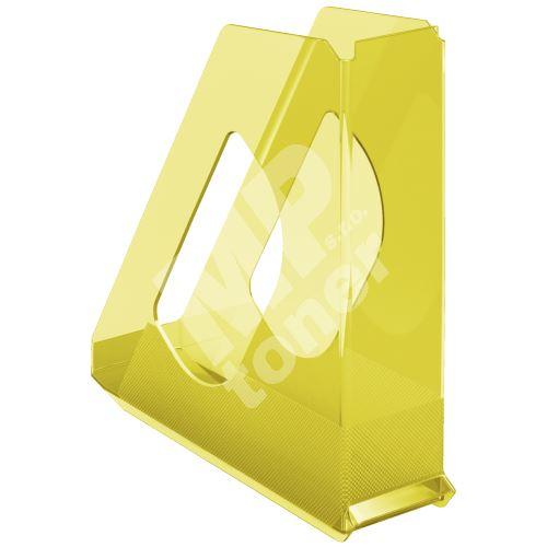 Stojan na časopisy Esselte Colour Ice, žlutá, plastový, 68 mm 1