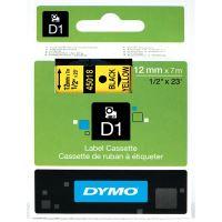 Páska Dymo D1 12 mm x 7m, černý tisk/žlutý podklad, 45018, S0720580