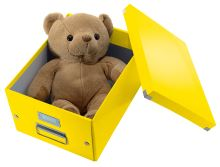 Krabice Click & Store, žlutá, lesklá, A4, LEITZ 8